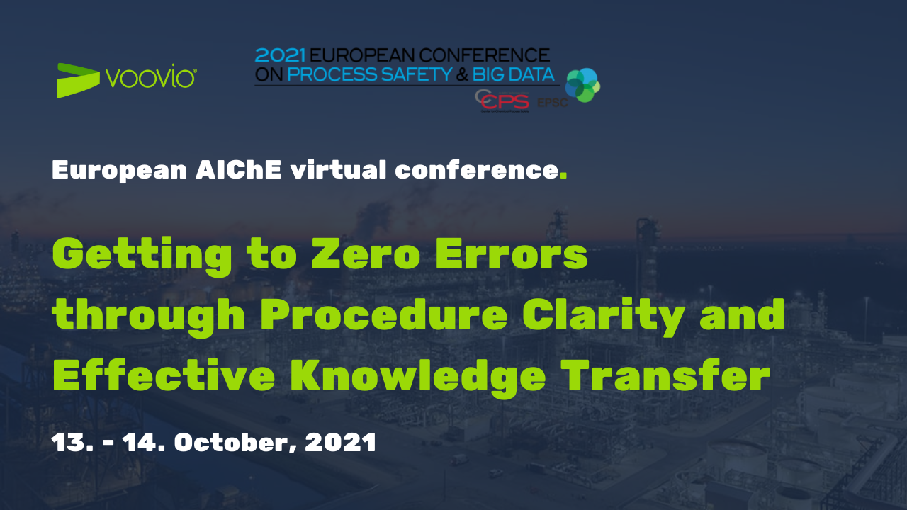 Virtual European Conference on Process Safety and Big Data Voovio