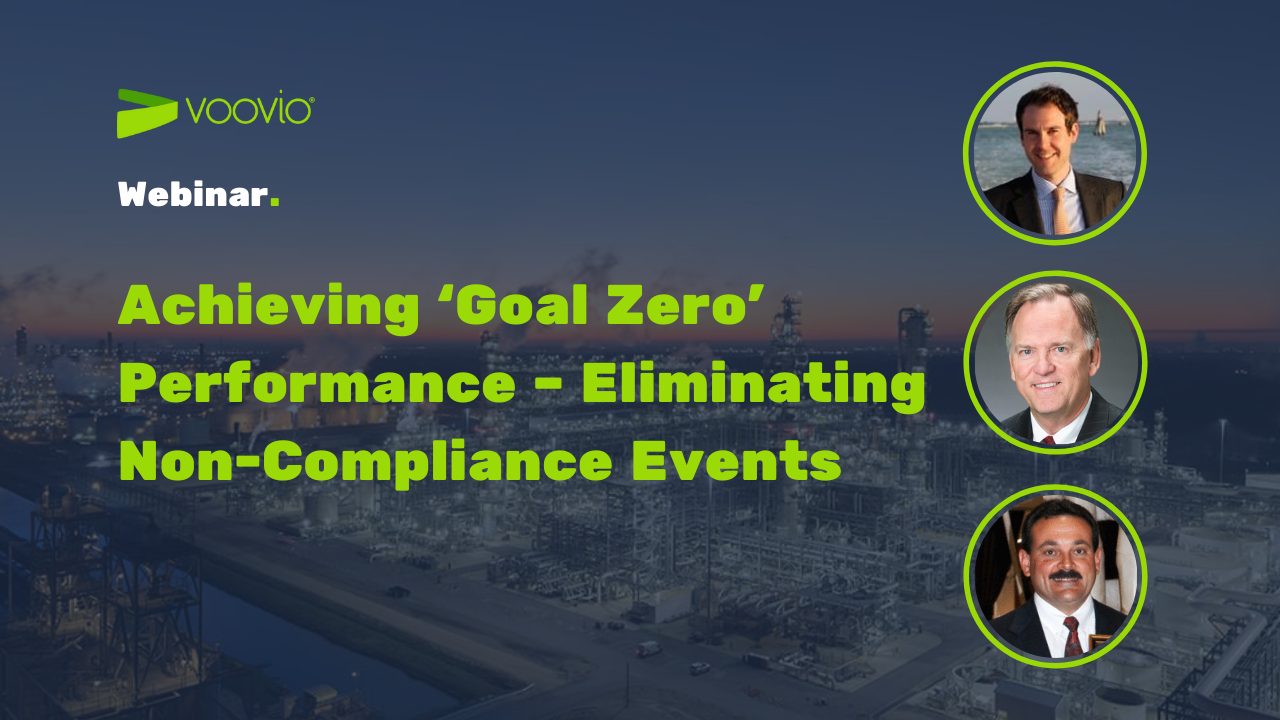 webinar with Voovio and Sam Smolik about non compliance events