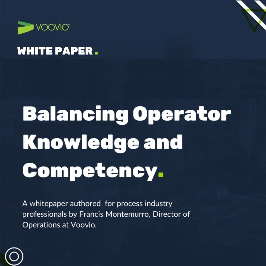 white paper voovio balancing operator knowledge and competency