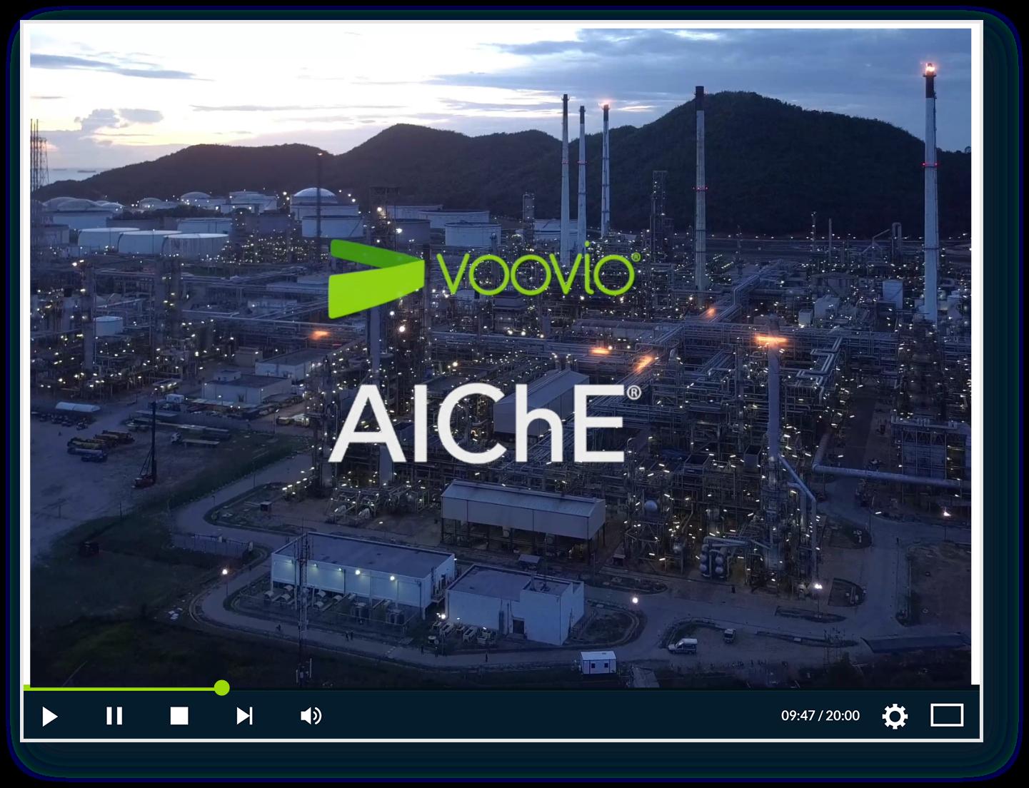 Voovio at AIChE European conference